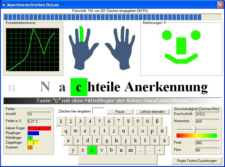 Screenshot für Maschinenschreiben Deluxe